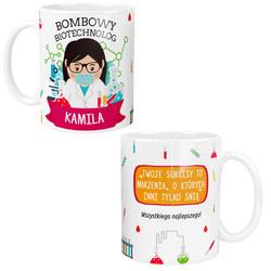 Personalizowany Kubek Pani Biotechnolog z Imieniem