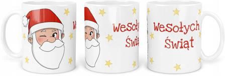 Kubek Świąteczny z Mikołajem Wesołych Świąt 330ml