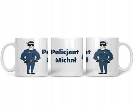 Kubek z IMIENIEM dla Policjanta PREMIUM